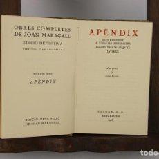 Libros antiguos: 4741. OBRES COMPLETES DE JOAN MARAGALL. LLIB. SALA PARES. 1929. 23 VOL.. Lote 43688478