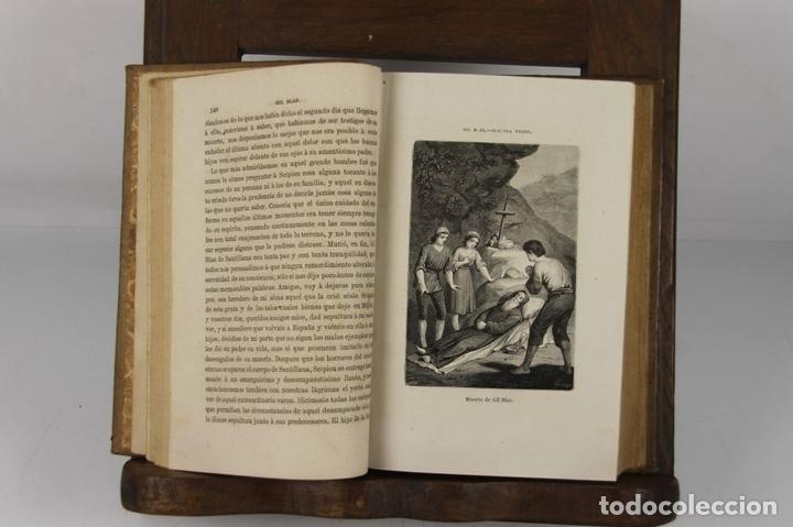 Libros antiguos: 4889- AVENTURAS DE GIL BLAS DE SANTILLANA. M. LASAGE. TIP. R. LABAJOS. 1876 2 VOL. - Foto 3 - 43908206