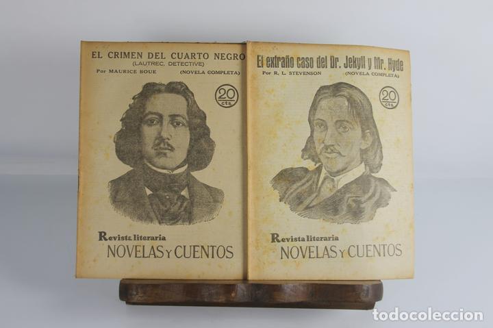 5055- REVISTA LITERARIA. REVISTAS Y CUENTOS. 6 TOMOS 154 FASCICULOS. VER AMPLIA DESCRIPCION. (Libros antiguos (hasta 1936), raros y curiosos - Literatura - Narrativa - Novela Romántica)