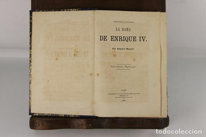 5109- LA DAMA DE ENRIQUE IV. AUGUSTO MAQUET. LIT. ARJONA. 1863. 2 VOL. (Libros antiguos (hasta 1936), raros y curiosos - Literatura - Narrativa - Novela Romántica)