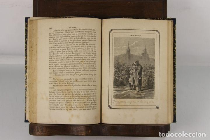 Libros antiguos: 5109- LA DAMA DE ENRIQUE IV. AUGUSTO MAQUET. LIT. ARJONA. 1863. 2 VOL. - Foto 4 - 45095778