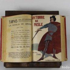 Libros antiguos: 5113- LA NOVELA DE AHORA. 11 OBRAS ENCUADERNADAS.VARIOS AUTORES. EDIT. CALLEJA. SIN FECHA.. Lote 45146113