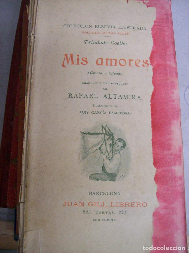 MIS AMORES. TRINDADE COELHO. 1899 (Libros antiguos (hasta 1936), raros y curiosos - Literatura - Narrativa - Novela Romántica)