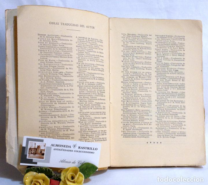 Libros antiguos: AÑO 1923. La Reina Calafia. Novela BLASCO IBAÑEZ, Vicente, 1º EDICIÓN 40.000 EJEMPLARES. - Foto 5 - 75417727