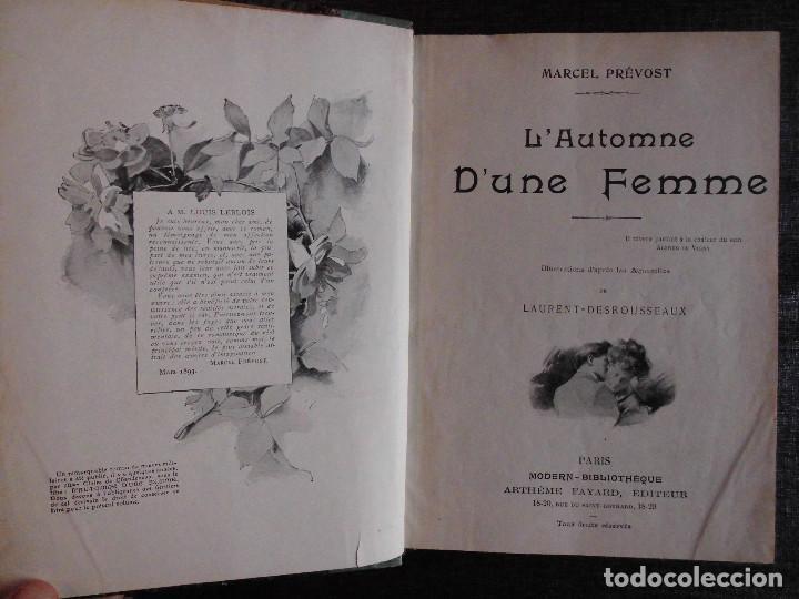Libros antiguos: 4 OBRAS DE MARCEL PRÉVOST, AMPLIAMENTE ILUSTRADAS. FINALES SIGLO XIX O PRINCIPIOS DEL XX - Foto 3 - 69782741