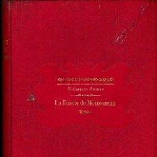 Libros antiguos: LA DAMA DE MONSOREAU 2 VOLS. A. DUMAS (SOPENA 1930) SIN USAR. Lote 73588727