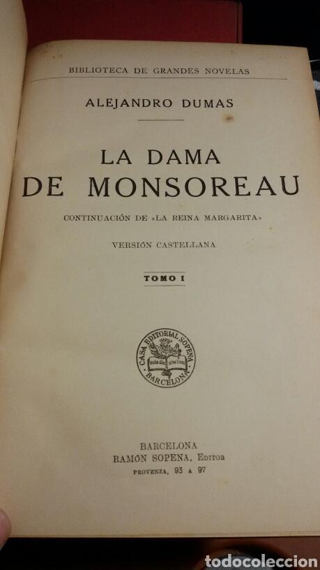 Libros antiguos: LA DAMA DE MONSOREAU 2 VOLS. A. DUMAS (SOPENA 1930) SIN USAR - Foto 4 - 73588727