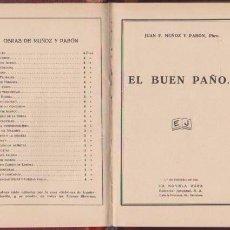 Libros antiguos: J. F. MUÑOZ Y PABÓN - EL BUEN PAÑO - LA NOVELA ROSA / 1º FEBRERO 1926. Lote 74179635