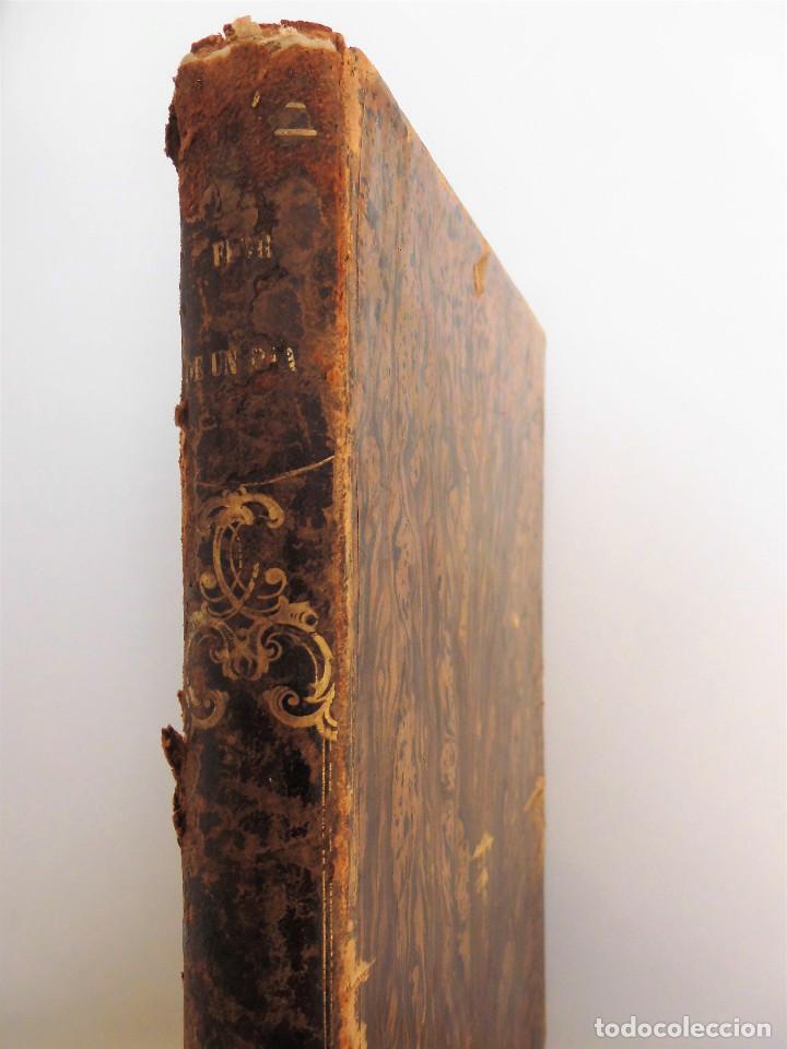 Libros antiguos: ¡FLOR DE UN DÍA! - NOVELA, LIBRO OBRA DE MANUEL ANGELON (1862) - INCLUYE 8 LÁMINAS - Foto 3 - 76764023