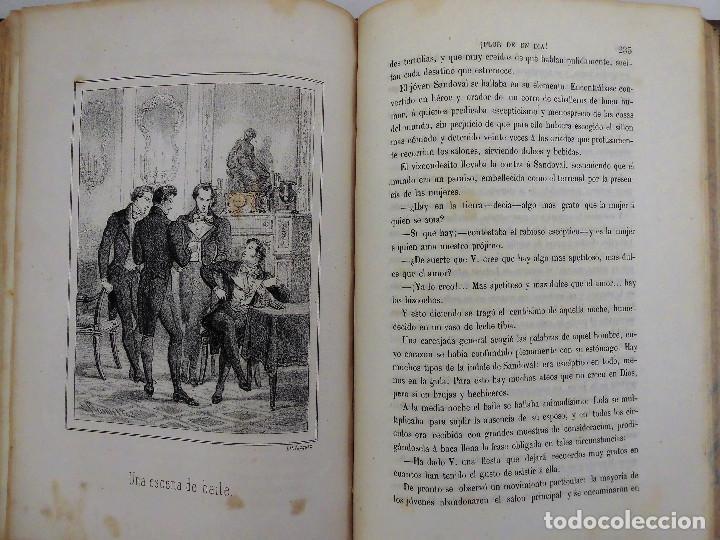 Libros antiguos: ¡FLOR DE UN DÍA! - NOVELA, LIBRO OBRA DE MANUEL ANGELON (1862) - INCLUYE 8 LÁMINAS - Foto 7 - 76764023