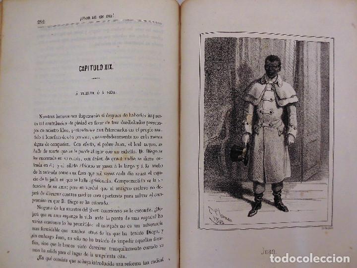 Libros antiguos: ¡FLOR DE UN DÍA! - NOVELA, LIBRO OBRA DE MANUEL ANGELON (1862) - INCLUYE 8 LÁMINAS - Foto 8 - 76764023