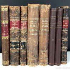 Libros antiguos: IMPRENTA DE LA GUIRNALDA. 8 EJEMPLARES. (VER DESCRIPCIÓN). B. PÉREZ GALDÓS. 1886/1992.. Lote 77883129