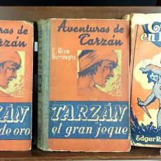 Libros antiguos: EDITOR GUSTAVO GILI. TARZÁN. 3 VOLÚMENES. (VER DESCRIPCIÓN). EDGAR RICE. 1927/1929.. Lote 80205117