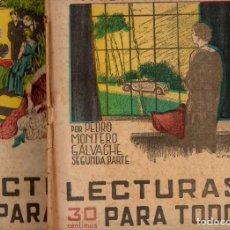 Libros antiguos: PEDRO MONTERO GALVACHE : CUANDO EL AMOR TRIUNFA - 2 VOLS.(LECTURAS PARA TODOS, 1935). Lote 81025464