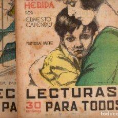 Libros antiguos: ERNESTO CAPENDÚ: EL BÁLSAMO EN LA HERIDA - 2 VOLS.(LECTURAS PARA TODOS, 1934). Lote 81029724