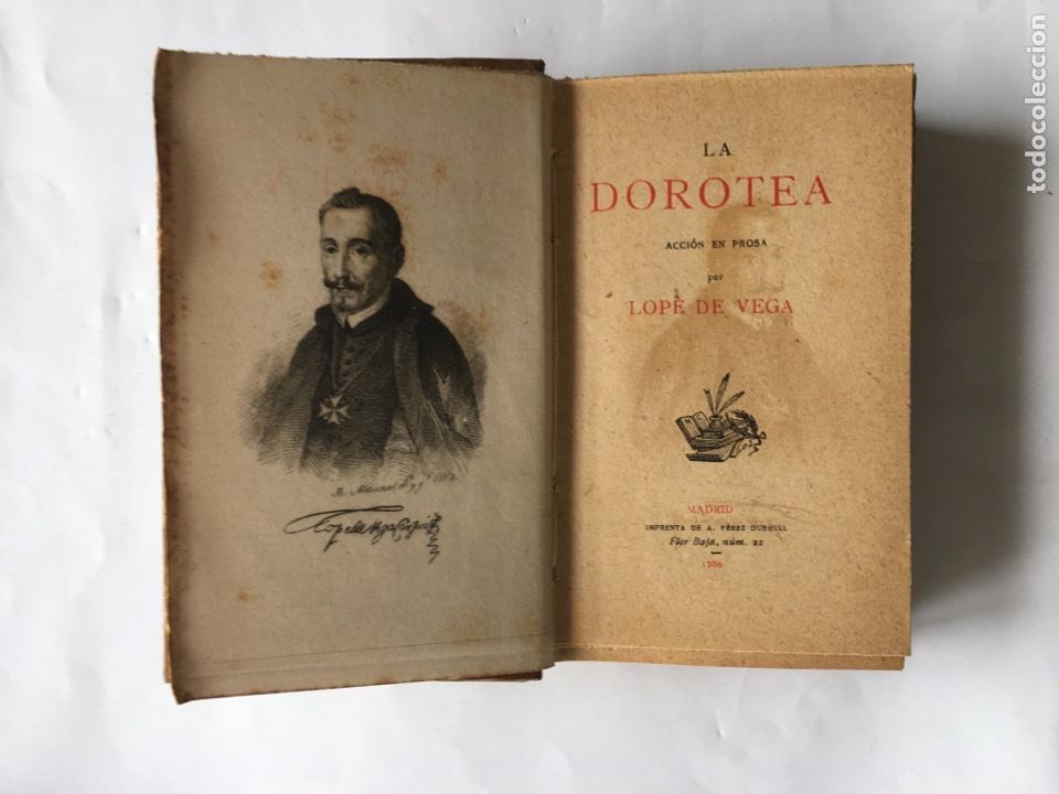 """""""LA DOROTEA"""" LOPE DE VEGA (A.1886) (Libros antiguos (hasta 1936), raros y curiosos - Literatura - Narrativa - Novela Romántica)"""