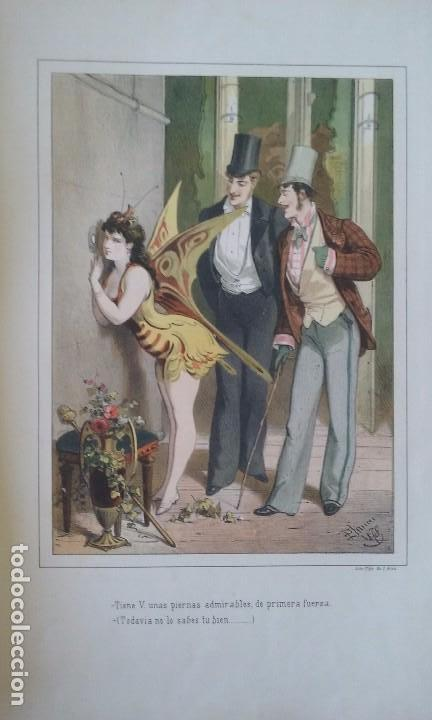 HISTORIA DE UNA MUJER ALBUM 50 CROMOS 43X31 CM POR D. EUSEBIO PLANAS 1880 (Libros antiguos (hasta 1936), raros y curiosos - Literatura - Narrativa - Novela Romántica)