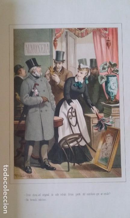 Libros antiguos: HISTORIA DE UNA MUJER ALBUM 50 CROMOS 43X31 CM POR D. EUSEBIO PLANAS 1880 - Foto 2 - 85916536