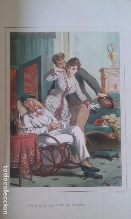 Libros antiguos: HISTORIA DE UNA MUJER ALBUM 50 CROMOS 43X31 CM POR D. EUSEBIO PLANAS 1880 - Foto 3 - 85916536