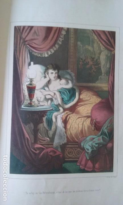 Libros antiguos: HISTORIA DE UNA MUJER ALBUM 50 CROMOS 43X31 CM POR D. EUSEBIO PLANAS 1880 - Foto 6 - 85916536