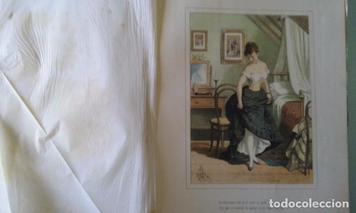 Libros antiguos: HISTORIA DE UNA MUJER ALBUM 50 CROMOS 43X31 CM POR D. EUSEBIO PLANAS 1880 - Foto 15 - 85916536