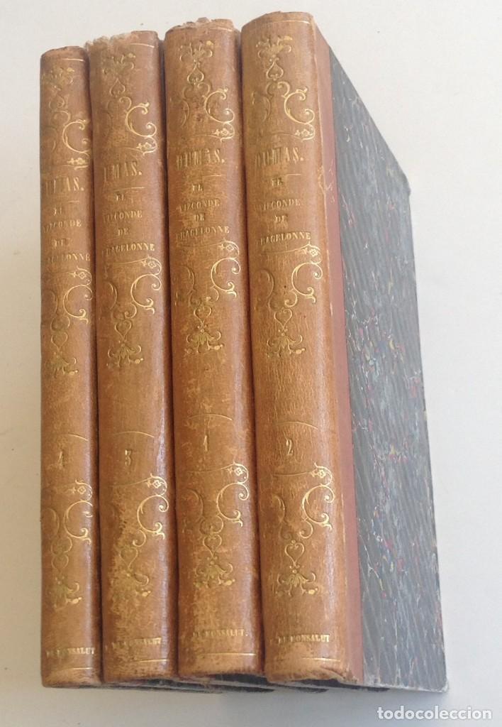 MADRID 1849 * LOS 3 MOSQUETEROS Y LA MASCARA DE HIERRO * VIZCONDE DE BRAGELONNE * * 4 VOLÚMENES (Libros antiguos (hasta 1936), raros y curiosos - Literatura - Narrativa - Novela Romántica)