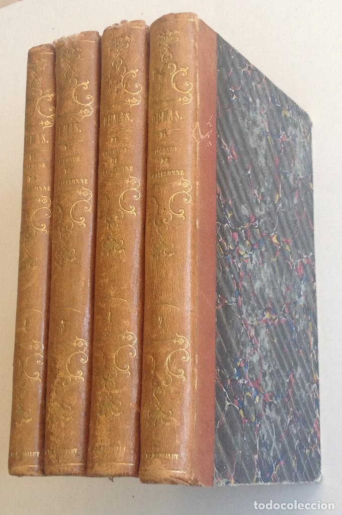 Libros antiguos: Madrid 1849 * Los 3 mosqueteros y La Mascara de hierro * VIZCONDE DE BRAGELONNE * * 4 volúmenes - Foto 2 - 87638432