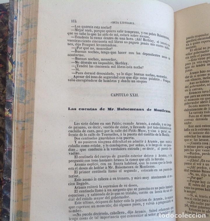 Libros antiguos: Madrid 1849 * Los 3 mosqueteros y La Mascara de hierro * VIZCONDE DE BRAGELONNE * * 4 volúmenes - Foto 7 - 87638432
