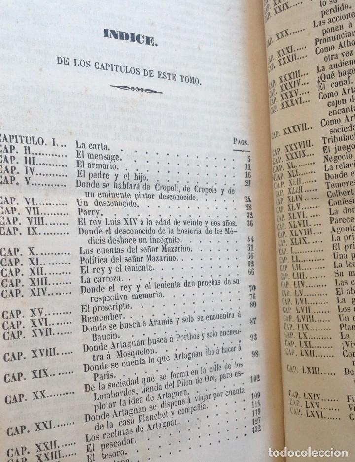 Libros antiguos: Madrid 1849 * Los 3 mosqueteros y La Mascara de hierro * VIZCONDE DE BRAGELONNE * * 4 volúmenes - Foto 10 - 87638432