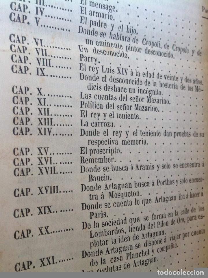 Libros antiguos: Madrid 1849 * Los 3 mosqueteros y La Mascara de hierro * VIZCONDE DE BRAGELONNE * * 4 volúmenes - Foto 11 - 87638432