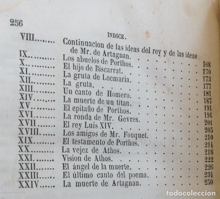 Libros antiguos: Madrid 1849 * Los 3 mosqueteros y La Mascara de hierro * VIZCONDE DE BRAGELONNE * * 4 volúmenes - Foto 12 - 87638432