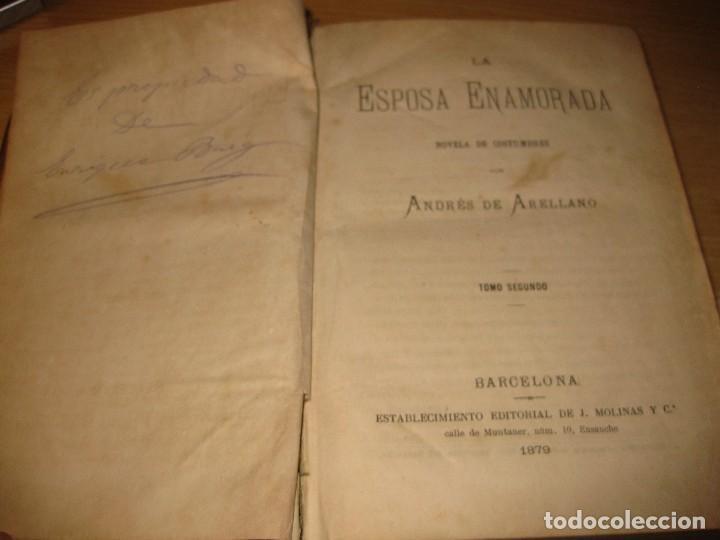 Libros antiguos: la esposa enamorada . andres de arellano . tomoII. Ed j. Molinas . 1879 . grabados - Foto 4 - 87678208