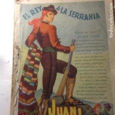 Libros antiguos: EL REY DE LA SERRANIA. JUAN LEON. JESUS G. RICOTE. LOS 50 PRIMEROS CUADERNOS. 800 PP.. Lote 94413282