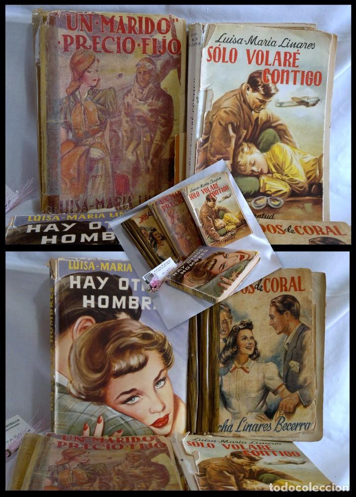 1940-53. LUISA MARÍA LINARES Y CONCHA LINARES BECERRA. LOTE DE CUATRO NOVELAS, PRIMERAS EDICIONES . (Libros antiguos (hasta 1936), raros y curiosos - Literatura - Narrativa - Novela Romántica)