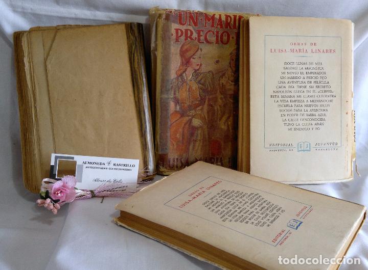 Libros antiguos: 1940-53. LUISA MARÍA LINARES Y CONCHA LINARES BECERRA. LOTE DE CUATRO NOVELAS, PRIMERAS EDICIONES . - Foto 3 - 98029683
