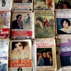 Libros antiguos: LOTE DE 10 NOVELAS DE - LA NOVELA ROSA - PUBLICACIONES QUINCENALES DE AÑOS 1930 , 1931 Y 1932.. Lote 100172871