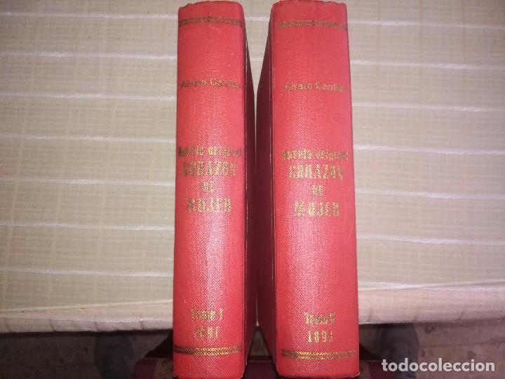 RARO 2 TOMOS CORAZÓN DE MUJER POR ÁLVARO CARRILLO -J. SEIX EDITOR- 1891- ILUSTRADOR EUSEBIO PLANAS (Libros antiguos (hasta 1936), raros y curiosos - Literatura - Narrativa - Novela Romántica)