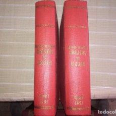 Libros antiguos: RARO 2 TOMOS CORAZÓN DE MUJER POR ÁLVARO CARRILLO -J. SEIX EDITOR- 1891- ILUSTRADOR EUSEBIO PLANAS. Lote 102768447