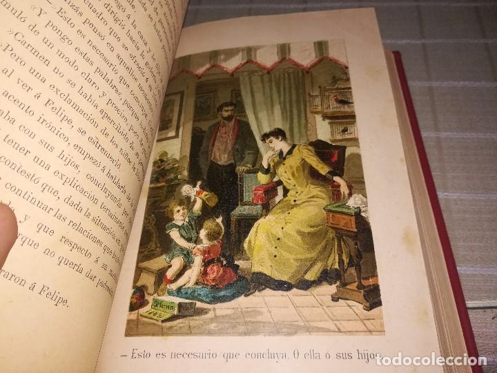Libros antiguos: RARO 2 TOMOS CORAZÓN DE MUJER POR ÁLVARO CARRILLO -J. SEIX EDITOR- 1891- ILUSTRADOR EUSEBIO PLANAS - Foto 3 - 102768447