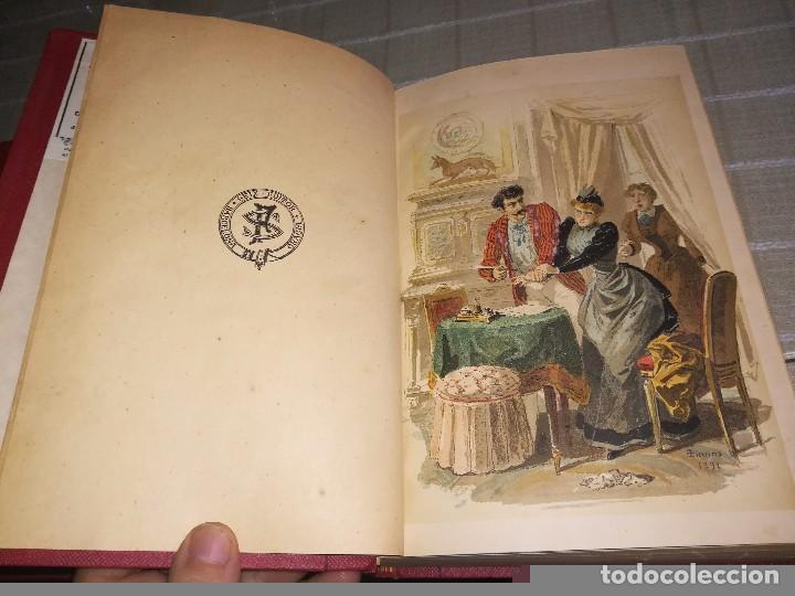 Libros antiguos: RARO 2 TOMOS CORAZÓN DE MUJER POR ÁLVARO CARRILLO -J. SEIX EDITOR- 1891- ILUSTRADOR EUSEBIO PLANAS - Foto 4 - 102768447