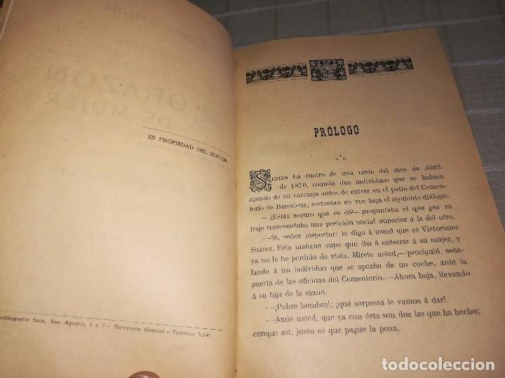 Libros antiguos: RARO 2 TOMOS CORAZÓN DE MUJER POR ÁLVARO CARRILLO -J. SEIX EDITOR- 1891- ILUSTRADOR EUSEBIO PLANAS - Foto 5 - 102768447