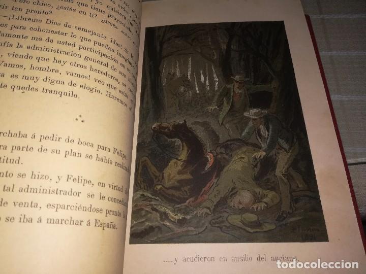 Libros antiguos: RARO 2 TOMOS CORAZÓN DE MUJER POR ÁLVARO CARRILLO -J. SEIX EDITOR- 1891- ILUSTRADOR EUSEBIO PLANAS - Foto 10 - 102768447