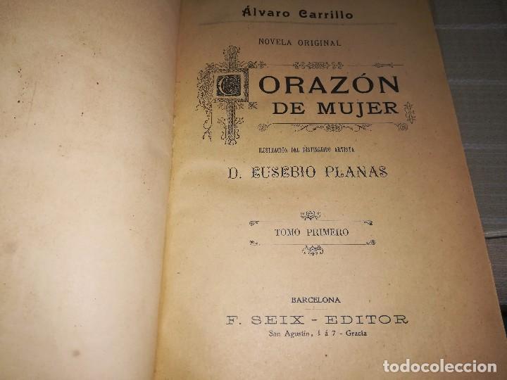 Libros antiguos: RARO 2 TOMOS CORAZÓN DE MUJER POR ÁLVARO CARRILLO -J. SEIX EDITOR- 1891- ILUSTRADOR EUSEBIO PLANAS - Foto 15 - 102768447