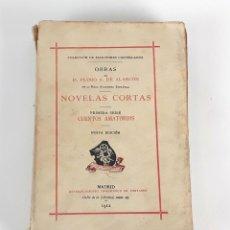 Libros antiguos: NOVELAS CORTAS. D.PEDRO DE ALARCÓN. EST.TIPOGRAFICO DE FORTANET. 1912.. Lote 109431707