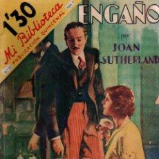 Libros antiguos: ENGAÑO. JOAN SUTHERLAND. MI BIBLIOTECA. EDITORIAL MOLINO, 1934.. Lote 110956375