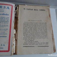 Livres anciens: LA NOVELA MUNDIALEL CAPITAN MALA SOMBRA PIO BAROJA - 1927. Lote 114243767