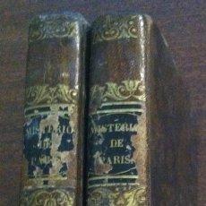Libros antiguos: LOS MISTERIOS DE PARÍS - EUGENIO SUE - IMPRENTA DE SAURÍ, BARCELONA, 1845 (TOMOS). Lote 119733607