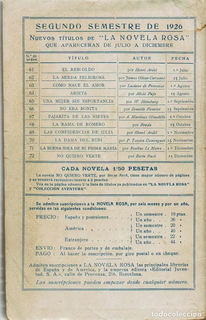 Libros antiguos: UNA MUJER SIN IMPORTANCIA, POR W. HEIMBURG. AÑO 1926 (1.4) - Foto 2 - 120100159