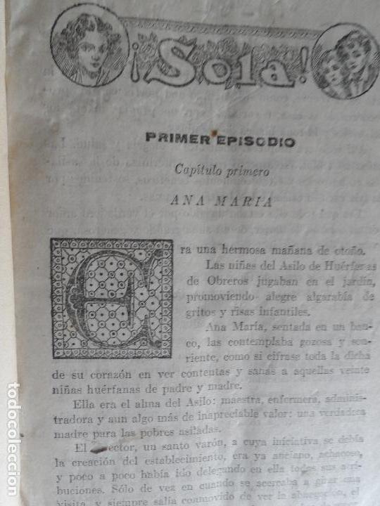 !SOLA¡ FOLLETIN - MARIO D'ANCONA (PSEUDÓNIMO) DOS TOMOS AÑOS 30 3833 PAGINAS (Libros antiguos (hasta 1936), raros y curiosos - Literatura - Narrativa - Novela Romántica)