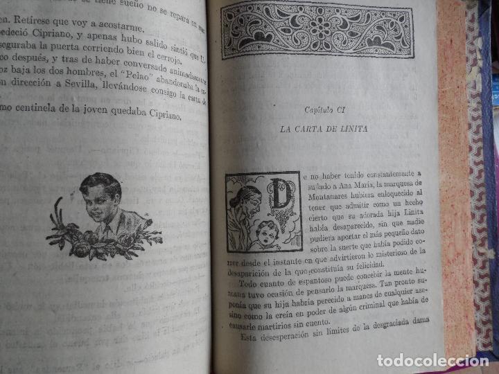 Libros antiguos: !SOLA¡ FOLLETIN - MARIO D'ANCONA (PSEUDÓNIMO) DOS TOMOS AÑOS 30 3833 PAGINAS - Foto 3 - 121660251